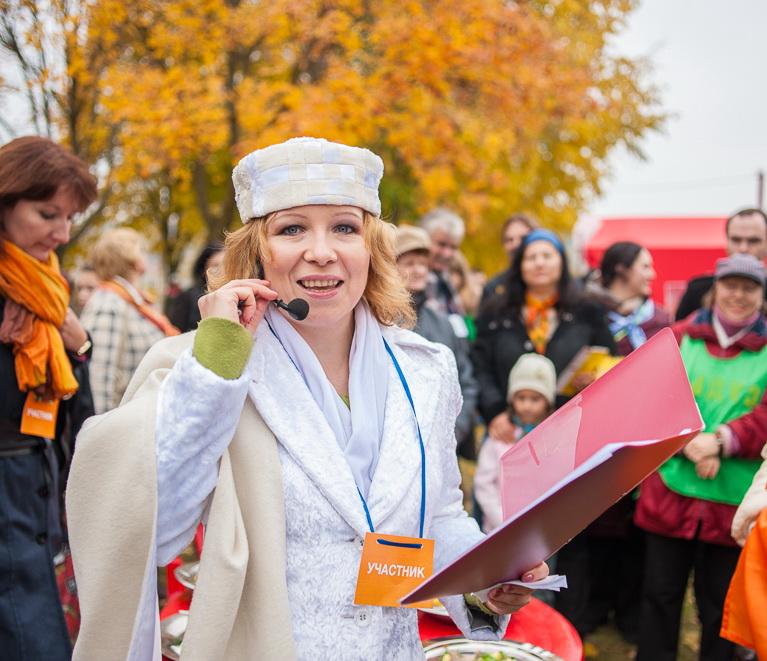 Елена в роли ведущей кулинарного шоу на фестивале Центр Европы