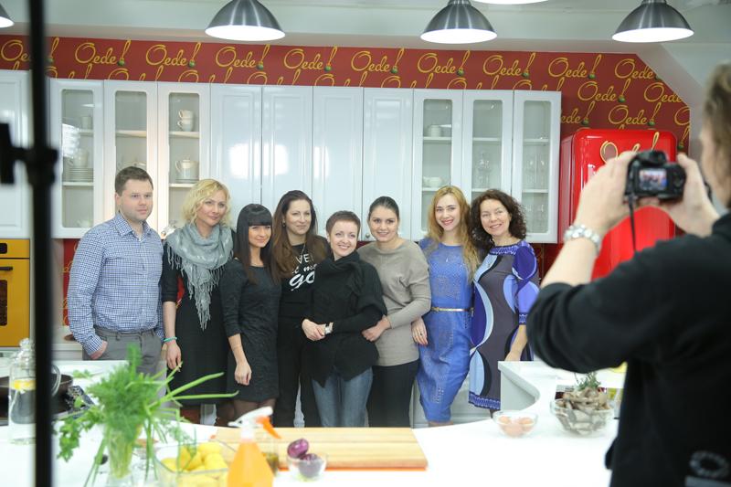 Первая кулинарная школа Oede, съемки кулинарной телепередачи