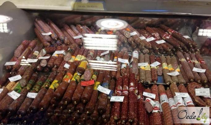Ассортимент салями в Минском магазине фото 2