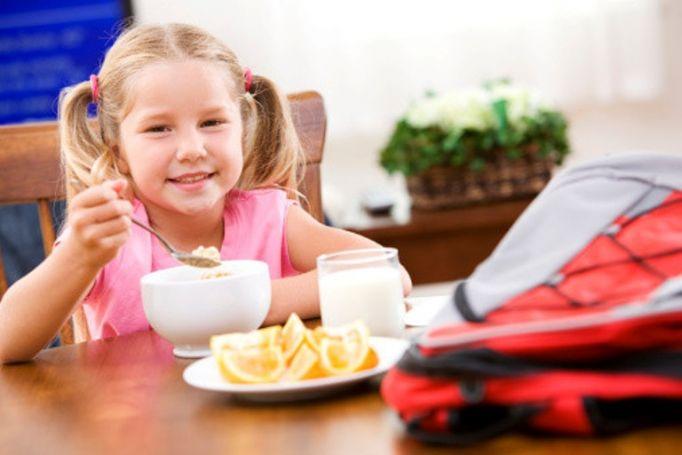 Завтрак для ребенка школьника