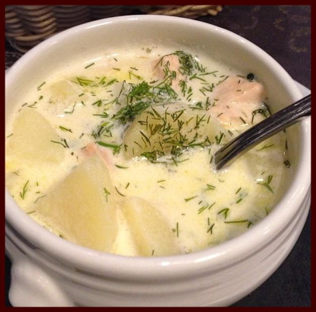 Молочные финские супы