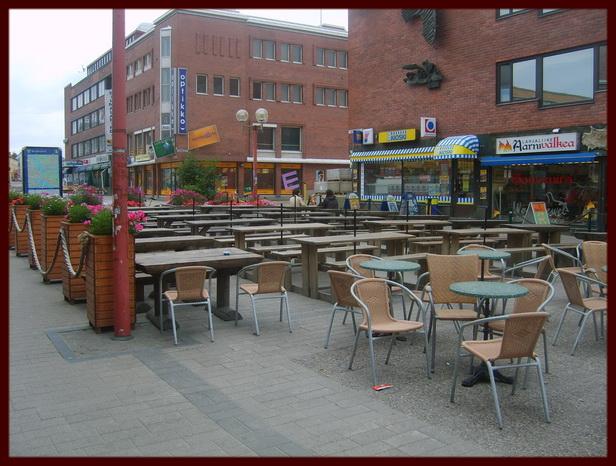 Открытое кафе в Финляндии