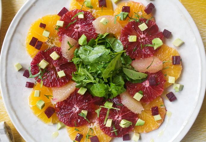 Зимний цитрусовый салат