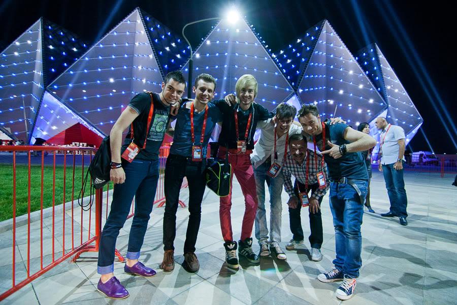 Перед выступлением на Евровидении 2012 года в Баку