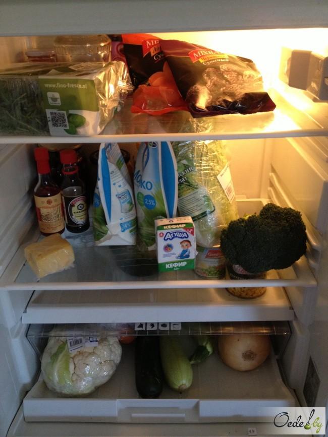 Еда в холодильнике Полины Смоловой