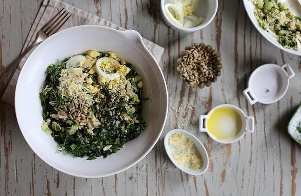 Салат из тунца и капусты