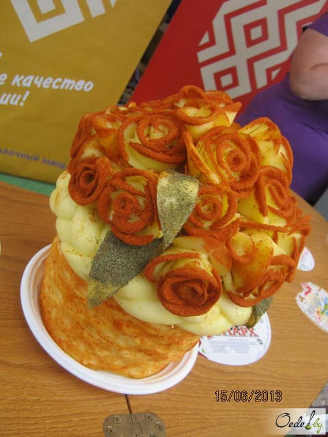 Торт Роза из сыра