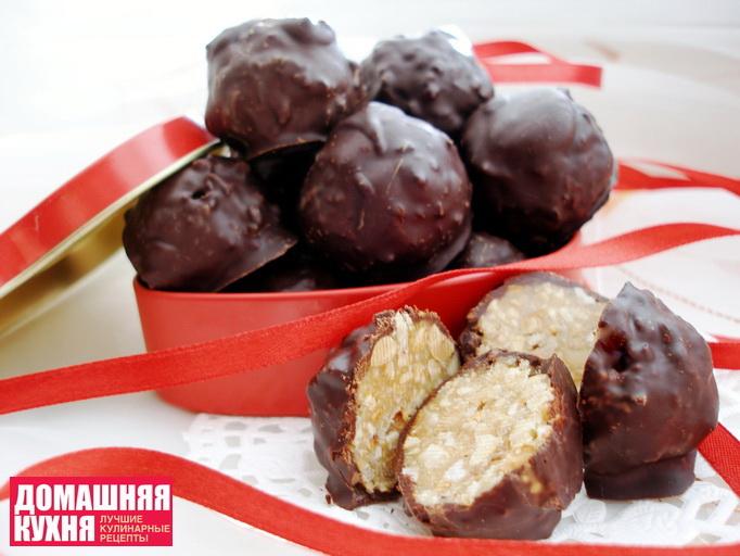 Шоколадные конфеты с медом и арахисом