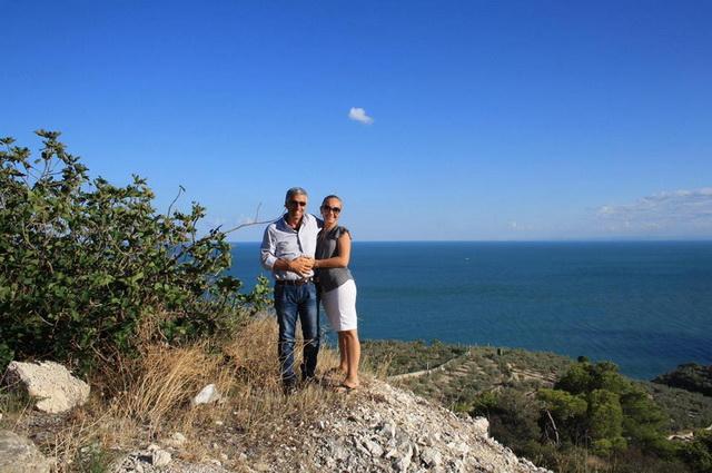 Елена Сульжич с возлюбленным Луиджи