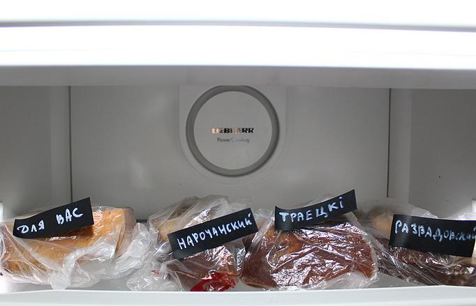 хлеб в пакете в холодильнике
