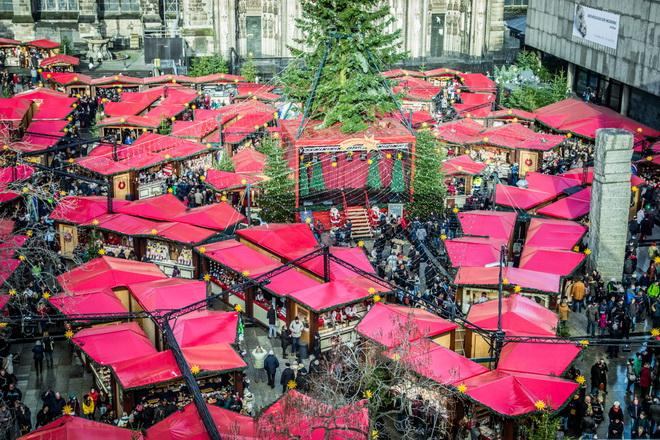 Рождественская ярмарка в германии, кельн