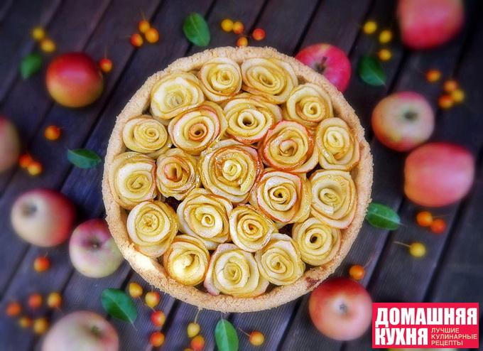 Яблочная кростата с фисташковым франжипаном