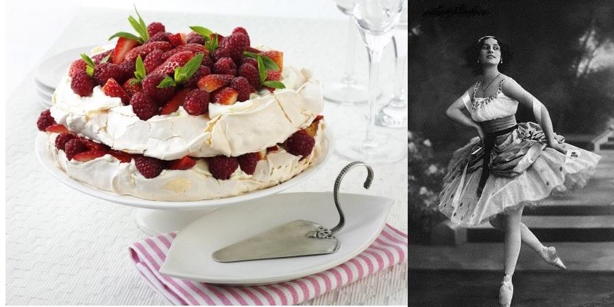 Десерт «Павлова» в честь русской балерины Анны Матвеевны Павловой