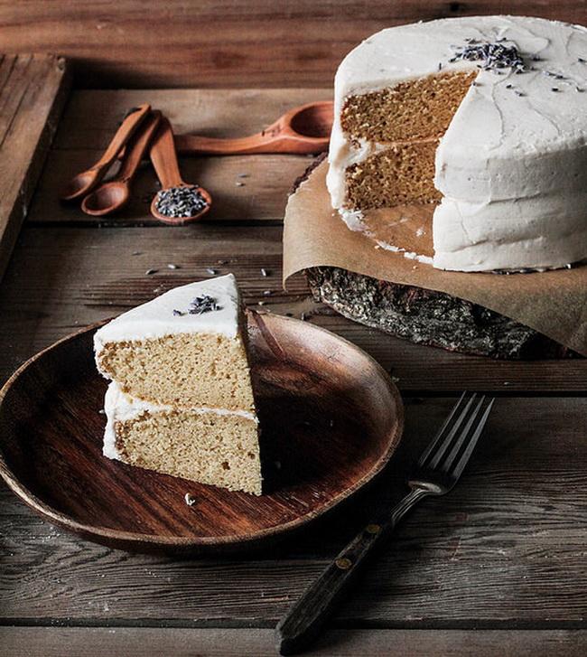 Торт лавандовый с ванилином