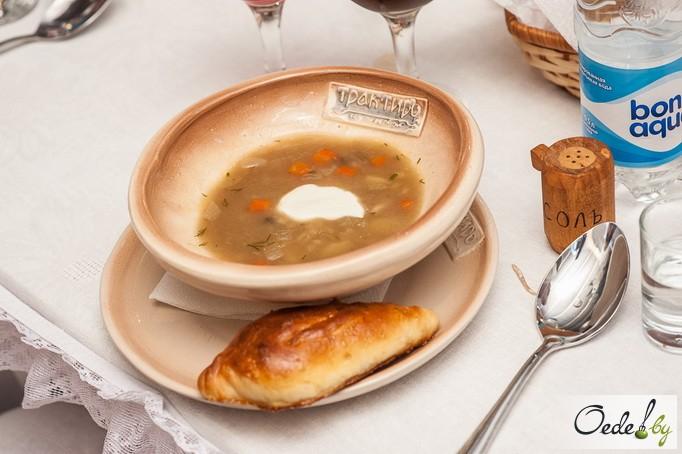 «Грибной суп с расстегаями»