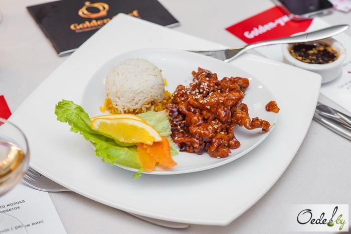 Медовый цыпленок с рисом микс