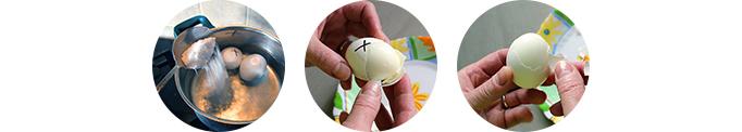 Как сделать так чтобы яйца хорошо чистились