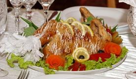 Курица фаршированная грибами «Искушение»