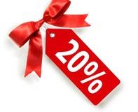 Годовая дисконтная карта со скидкой 20%