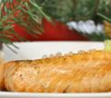 Филе лосося под соусом из шампанского с икрой