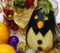 Новогодний пингвинчик  из баклажана