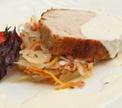 Корейка с соусом и квашеной капустой от Александра Жилинского