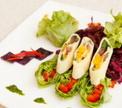 Капустный салат с фасолью и сырными рулетиками от Дениса Светова