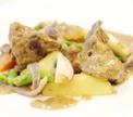 Жаркое из телячьей  печени с обжаренным картофелем и луком