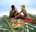 Романтический ужин в гавайском стиле