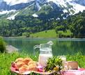 Французский пикник у подножия Альп
