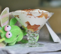 Детский творожно-сливочный  десерт с фруктами