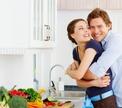 Романтический ужин на кухне