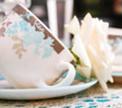 Сервировка стола:  Заснеженное утро