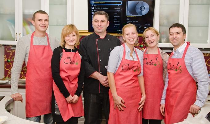Кулинарный корпоратив в школе-студии Oede