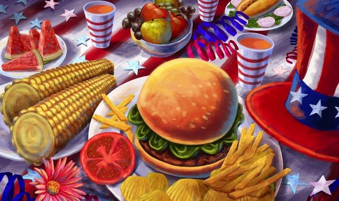 American dream. American boy. American food!