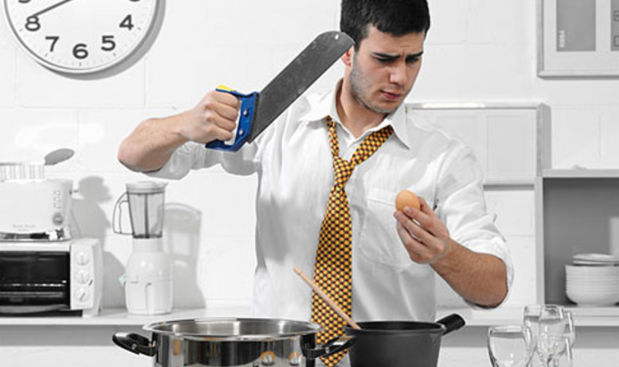 «Мужчина на кухне». Камера. Мотор. Стоп! Снято.