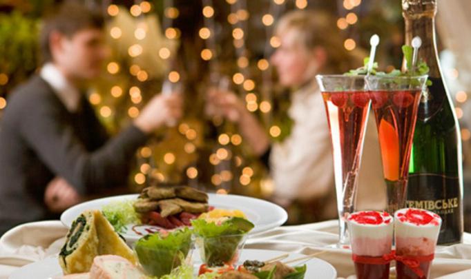 Романтический ужин в новогоднюю ночь
