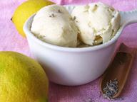 Лимонно-лавандовое мороженое