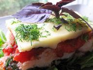 Рыба, запеченная с томатами