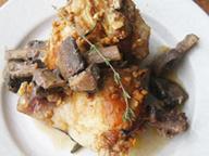 Курица в паприке с грибами