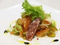 Баварский салат из колбасы