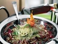 Вегетарианское карпаччо с красным итальянским салатом и артишоком