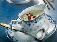 Суп из карликовой фасоли с хрустящим шпиком