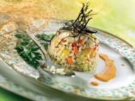 Перловая крупа с овощами и зеленью