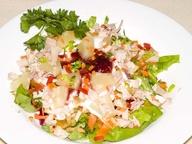 Салат из курицы с курагой