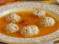 Крем-суп из тыквы с куриными фрикадельками