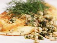 Омлет с сыром и креветками