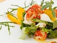 Фреш-салат с раковыми шейками и рассольным сыром от Дениса Светова