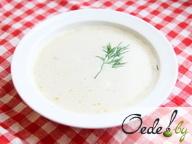 Сливочно-винный суп с мидиями и креветками