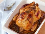 Цыпленок запечённый с травами